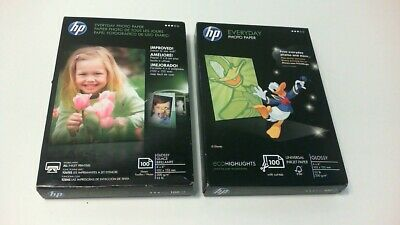 """Two Boxes HP Everyday Photo Paper Glossy 4"""" x 6"""" (200 Sheets) Inkjet New CR759A"""