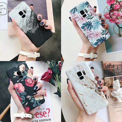 For Samsung Galaxy S7 S8 S9+ Shockproof Flower Cute Girls Women Phone Case Cover
