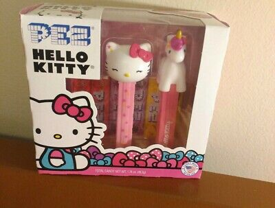 Hello Kitty And Unicorn Pez Dispenser Limited Edition 2019 & 6 Packages Of Pez