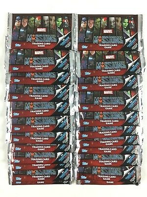 Marvel Missions Trading Card Game Card Lot 50 Package Booster New (the Avengers
