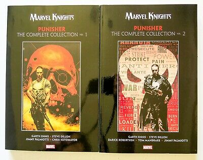 Punisher The Complete Collection Vol. 1 & 2 Lot Marvel Graphic Novel Comic Book