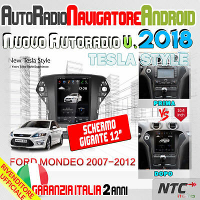 "Autoradio 12.1 "" Android 6 Bildschirm Tesla Ford Mondeo '07-' 12 Stereo Mp3 32GB"
