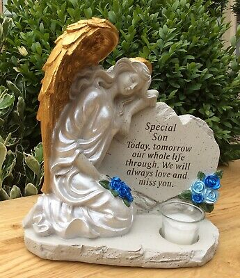 Special Son Angel Grave Memorial Ornament, Graveside Remembrance Cemetery Gift