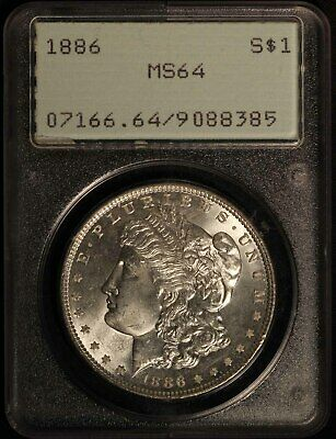 1886 United States Morgan Silver Dollar PCGS MS64 - Free Shipping USA