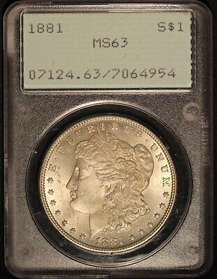 1881 United States Morgan Silver Dollar PCGS MS63 - Free Shipping USA