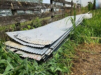 12ft Corrugated Galvanized Steel Sheets - Used 43 pieces