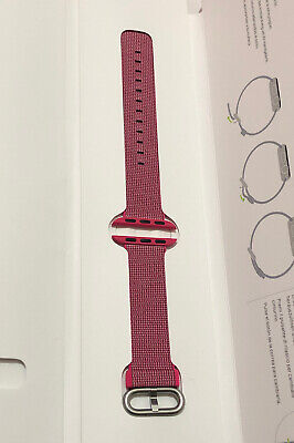 Genuine Apple Watch Woven Nylon Pink Stripe 38mm / 40mm Strap