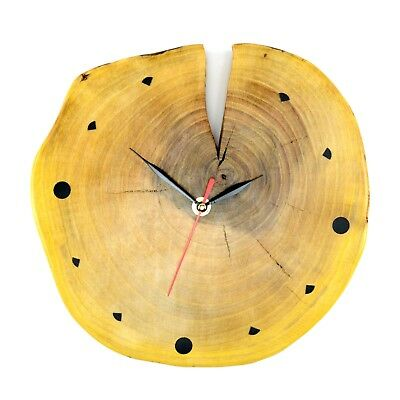 Unique Large Wooden Wall Clock Round Rustic Traditional Oak