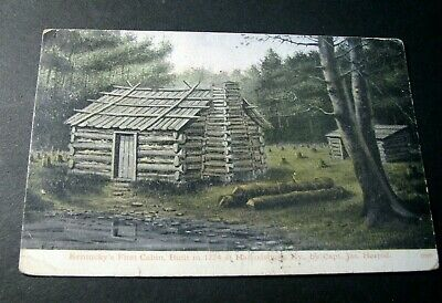 Old Postcard   First Cabin in Ky.  PB9
