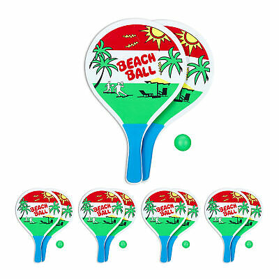 5 x beachballset - strandspeelgoed - strandtennis -  racket - beach ball set