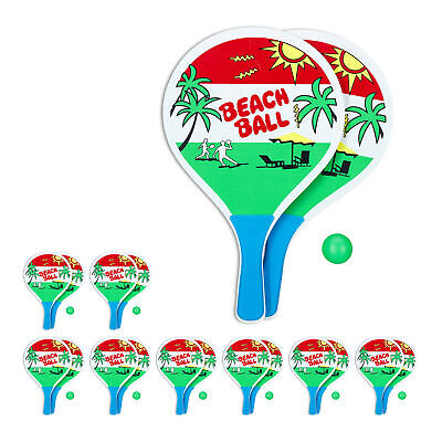 9 x beachballset - strandspeelgoed - strandtennis -  racket - beach ball set