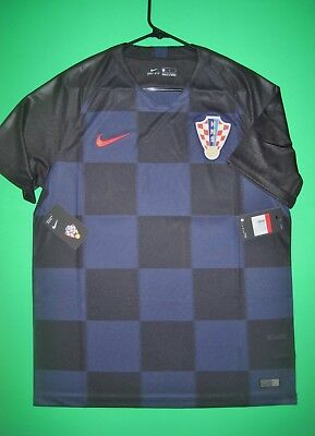 get cheap 2dd6f ae9bd NEW CROATIA NIKE Jersey 2018 World Cup Black Blue HNS Authentic Away