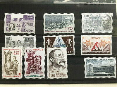France, 10 MNH stamps all different, VF 1978 - 1984
