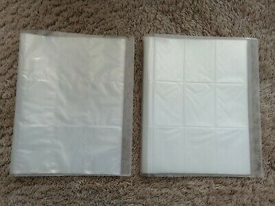 2 x TRADING CARD HOLDERS FOLDERS BINDER FOR DR WHO POKEMON ETC HOLDS 1080 CARDS