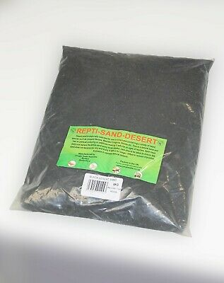 Reptile Sand Black - 5kg - Bedding - Lizard - Gecko - Dragon -  Vivarium Sand