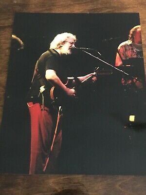 Vtg Jerry Garcia Grateful Dead 8x10 Glossy Photo Playing Guitar While Singing