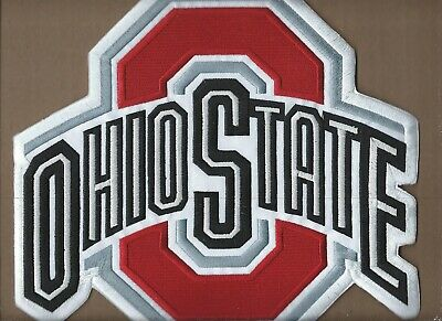 """New 10 X 10 7/8"""" Ohio State Buckeyes Iron On Patch Free Shipping P1"""