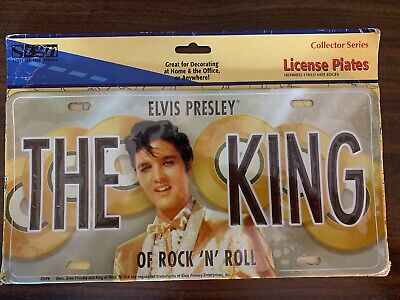 Elvis Presley The King Of Rock 'N' Roll Gold Records License Plate Sealed