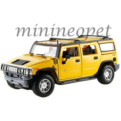Maisto 31231 2003 Hummer H2 Suv 1/27 Diecast Model Car Yellow