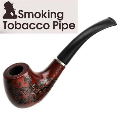 Smoking Pipe Durable Tobacco Vintage Wooden Pipes Cigar Cigarette unique New