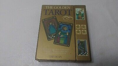The Golden Tarot by Liz Dean cards & Book Set - EXCELLENT - free shipping