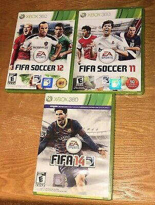 Xbox 360 Collection of 3 FIFA Soccer 2011-2012-2014 Games Ea Sports