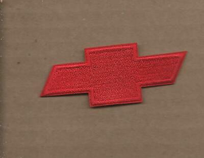New 1 3/8 X 3 3/8 Inch Red Chevrolet Bow Tie Iron On Patch Free Shipping P1