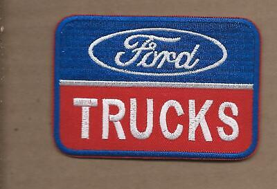 New 2 1/2 X 3 5/8 Inch Ford Trucks Iron On Patch Free Shipping P1