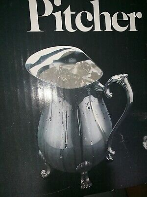 Leonard Silver Plate Water Pitcher W/ Ice Guard Brand New In Box !!!!