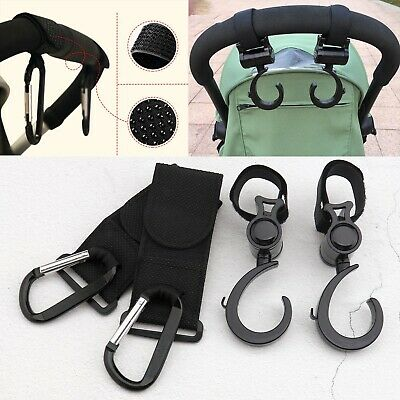 4pcs Convenient Closed-shaped Stroller Hooks and Loop for Hanging Things