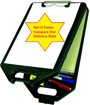 A4 Clipboard with Storage Compartment Case Assorted Colours Blue Black Red