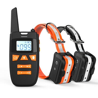Dog Training Collar with 2 Remote Rechargeable Waterproof training 1000ft