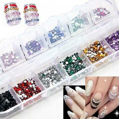 Hot 3600pcs Nails Art Rhinestones Decoration for UV Gel Acrylic Systems 1.5mm EH