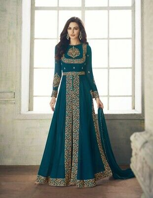 Bollywood Indian Wear Long Dress Designer Pakistani Wedding Salwar Kameez Gown