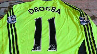 best service 8c9c9 1f7ba NEW ADIDAS CHELSEA Fc Didier Drogba Jersey Shirt Camiseta Maillot Uk  Premier Epl