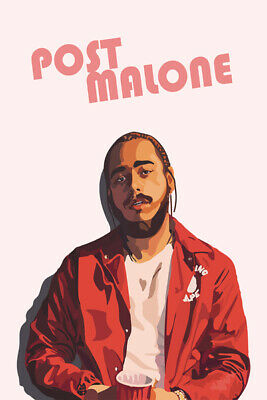 P550 Art Decor Post Malone New Custom Rap Hip Hop Music Star Silk Poster