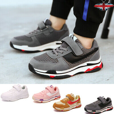 Casual Trainers Sneakers Kids Unisex Outdoor Non-slip Sports Skate Shoes Solid