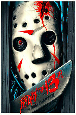 Art Poster 24x36 27x40 Friday the 13th Jason Voorhees Horror Movie T-965 Collezionismo cartaceo