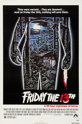 P817 Art Decor Vintage Friday the 13th Movie Classic Horror Movie Silk Poster