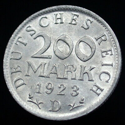 Germany, Weimar Republic 200 Mark 1923. km35 Coin exact item pictured