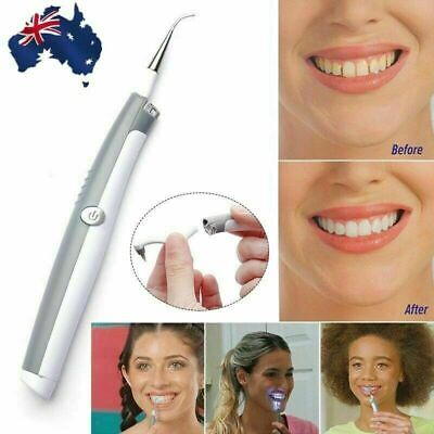 Electric Sonic Dental Tooth Stain Polisher Teeth Whitener Plaque Remover AU QTS