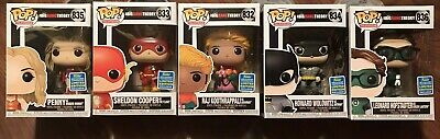 Set 5 Funko Pop Big Bang Theory 2019 Sdcc Walmart Exclusive Good Box Condition