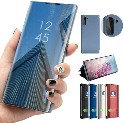 For Samsung Galaxy Note 10+ Plus Flip Smart Case Clear View Mirror Stand Cover