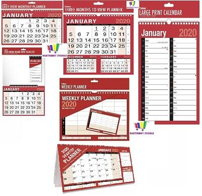 2020 Wall Calendar Slim/Easy Month To View/Large Month To View/Giant Calendar