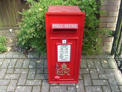 "Royal Mail ""Post Office"" Genuine,complete 1947 GRV1 cast iron GPO Wall Post Box"