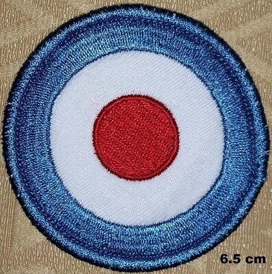 19620 Mod Target Blue White Red 60s Sixties Pop Music Embroidered Iron On Patch
