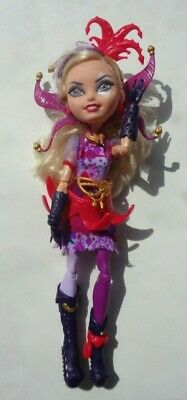 USED RETIRED Ever After High Way Too Wonderland Courtly Jester Doll Blond