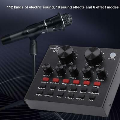 New Audio USB Headset Microphone Game Webcast Live Sound Card for Phone Computer