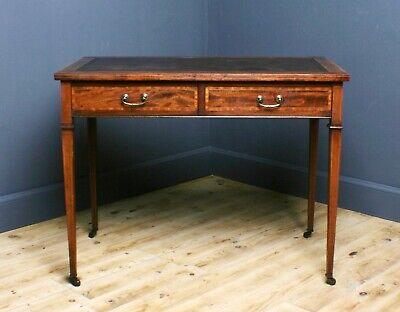 Attractive Small Antique Edwardian Mahogany Side Writing Table With Drawers