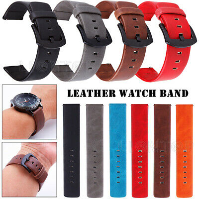 Replacement Quick Release Strap Leather Wrist Watch Band Replacement 18/20/22mm